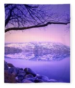 Sunday Morning At Okanagan Lake Fleece Blanket