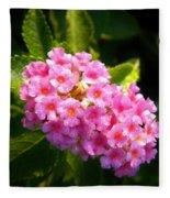 Sunday Morning Pink Fleece Blanket