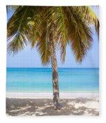 Sunday Palm Fleece Blanket