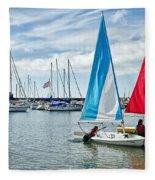 Sunday Sailing 2 Fleece Blanket