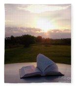 Sunday Sunrise Bible Study Fleece Blanket