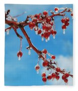 Sunday With Cherries On Top Fleece Blanket