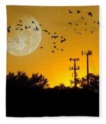 Sundown Fantasy Orange Fleece Blanket
