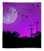 Sundown Fantasy - Violet Fleece Blanket