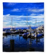Sundown In Sag Harbor Fleece Blanket