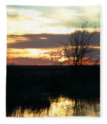 Sundown Lacassine Nwr Fleece Blanket