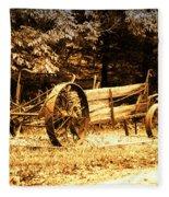 Sundown On The Honey Dew Wagon Fleece Blanket