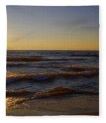 Sundown Scintillate On The Waves Fleece Blanket