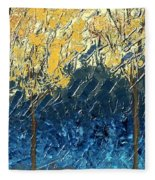 Sundrenched Trees Fleece Blanket