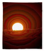 Sunfall Behind The Mountains Fleece Blanket