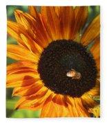 Sunflower And Bee-4041 Fleece Blanket