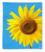 Sunflower Blue Sky Fleece Blanket