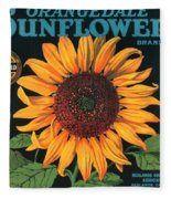 Sunflower Brand Crate Label Fleece Blanket