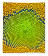 Sunflower Center Fleece Blanket