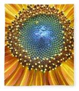 Sunflower Center Fleece Blanket