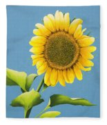 Sunflower Charm Fleece Blanket