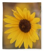 Sunflower Closeup Fleece Blanket