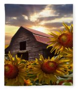 Sunflower Dance Fleece Blanket