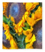 Sunflower Delight Fleece Blanket