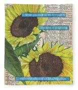Sunflower Dictionary 2 Fleece Blanket
