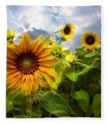 Sunflower Dream Fleece Blanket
