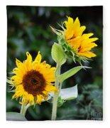 Sunflower Duo Fleece Blanket
