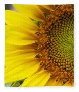 Sunflower Face Fleece Blanket