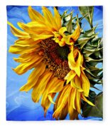 Sunflower Fantasy Fleece Blanket
