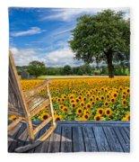 Sunflower Farm Fleece Blanket