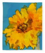 Sunflower Illusion Fleece Blanket
