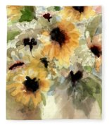 Sunflower Impressions Fleece Blanket