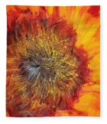 Sunflower Lv Fleece Blanket