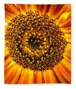 Sunflower Macro Fleece Blanket