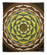 Sunflower Mandala Fleece Blanket