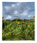 Sunflower Maze Fleece Blanket