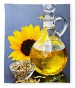 Sunflower Oil Bottle Fleece Blanket