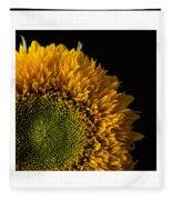 Sunflower Original Signed Mini Fleece Blanket