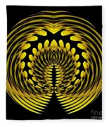 Sunflower Polar Coordinate Effect 1 Fleece Blanket