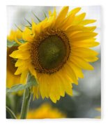 Sunflower Portrait Fleece Blanket