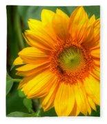 Sunflower Smile Fleece Blanket