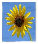 Sunflower Square Fleece Blanket