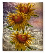 Sunflower Trio Fleece Blanket