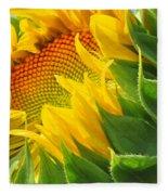 Sunflower Unfolding  Fleece Blanket
