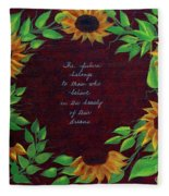 Sunflowers And Dreams Fleece Blanket