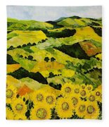 Sunflowers And Sunshine Fleece Blanket