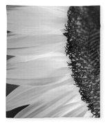 Sunflowers Beauty Black And White Fleece Blanket