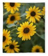 Sunflowers Bloom Fleece Blanket