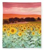 Sunflowers, Corbada, Spain Fleece Blanket
