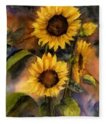 Sunflowers For Cyndi Fleece Blanket