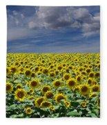 Sunflowers Forever Fleece Blanket